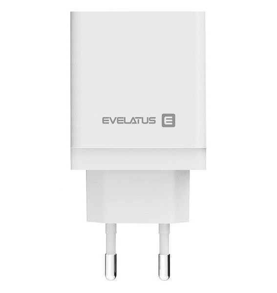Evelatus ETC04 Αντάπτορας ταξιδίου USB 2.4A + Type-C 3A 30W Power Delivery άσπρο | cooee.gr6