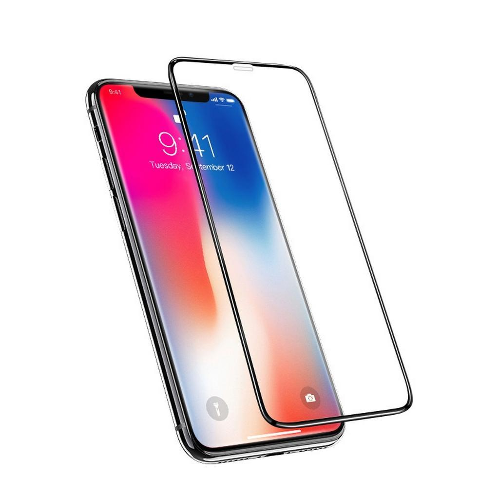 hoco G5 SILK SCREEN TEMPERED GLASS FULL COVER ΓΙΑ IPHONE XS MAX / 11 PRO MAX 6.1 inches ΜΑΥΡΟ | cooee.gr