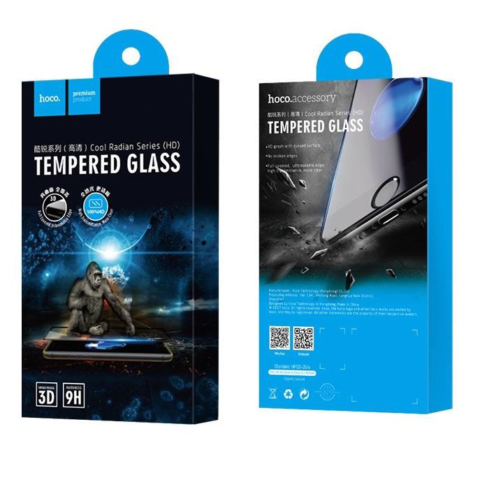 hoco Cool Radian Tempered Glass Full Cover 0.23 mm ΓΙΑ IPHONE 6 6s μαύρο | cooee.gr6
